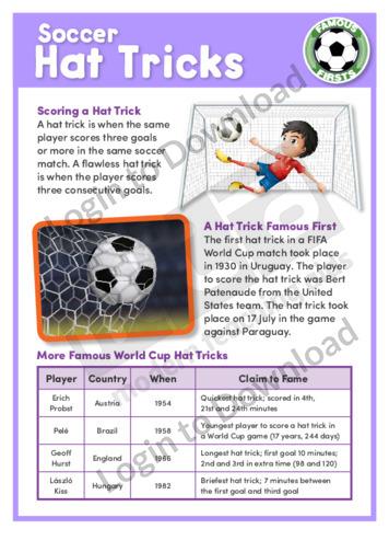 Soccer Hat Tricks