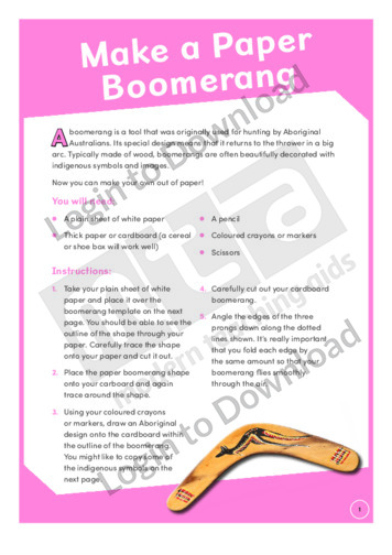 Make a Paper Boomerang