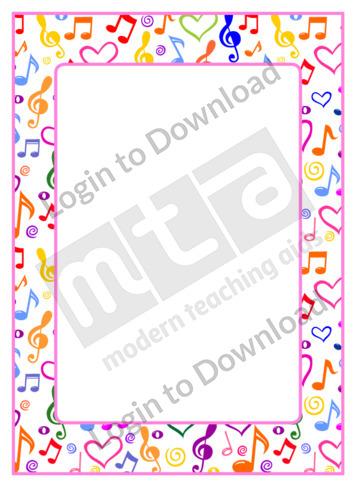 Music Page Border
