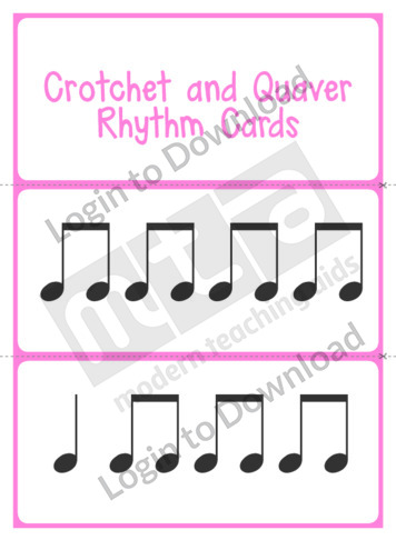 Crotchet and Quaver Rhythm Cards