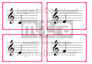 Musical Notes Match-Up Cards