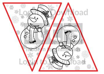 Christmas Bunting: Snowman (B&W)