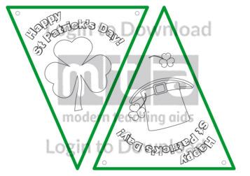 Happy St Patrick's Day Bunting (B&W)