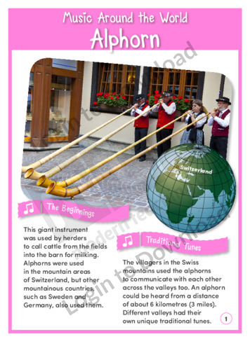 Music Around the World: Alphorn