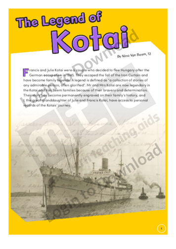 The Legend of Kotai