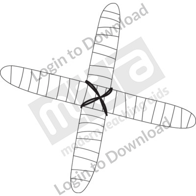 Cross Boomerang B&W