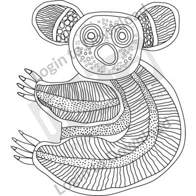 Koala B&W