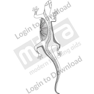 Lizard B&W