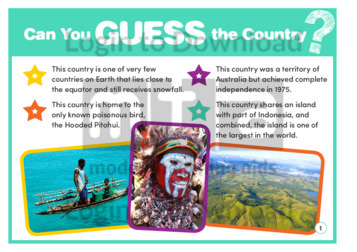 Guess Who: Papua New Guinea