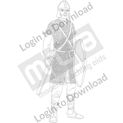 Anglo-Saxon warrior B&W