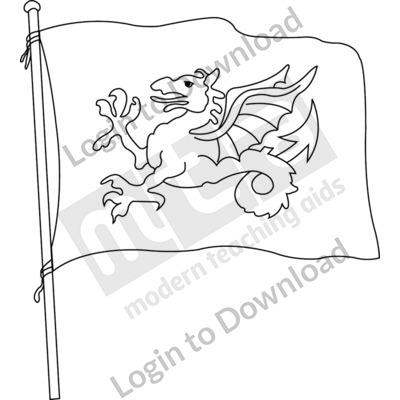 Anglo-Saxon flag B&W