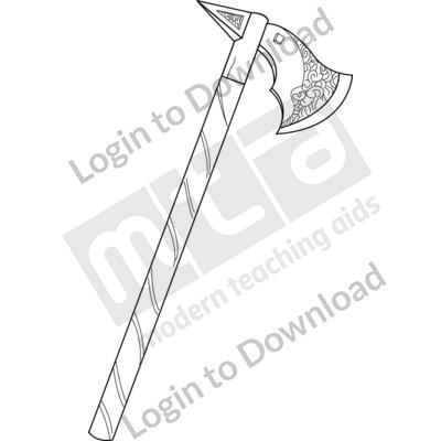 Anglo-Saxon axe B&W