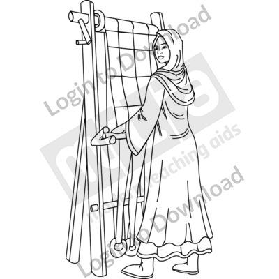 Anglo-Saxon weaver B&W