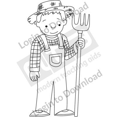 Young farmer B&W
