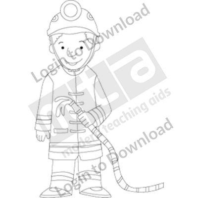 Young firefighter B&W
