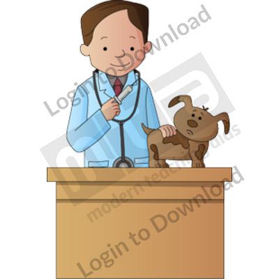 Young veterinarian