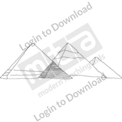 Egyptian Pyramids B&W