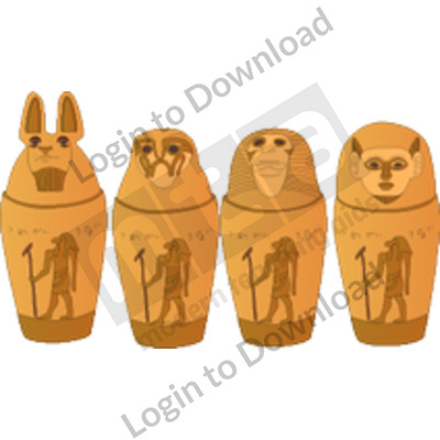Egyptian canopic jars