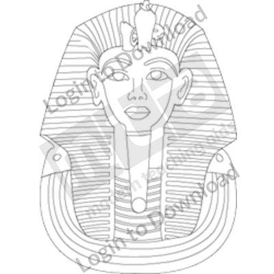 Egyptian Pharaoh B&W