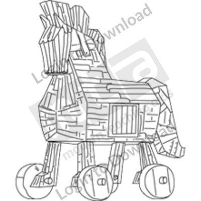 Trojan horse B&W