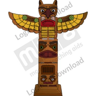 Aztec totem pole