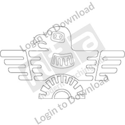 Aztec eagle B&W