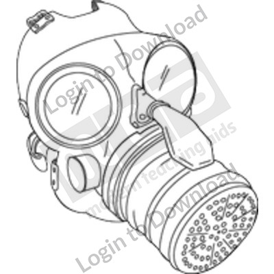Gas mask B&W