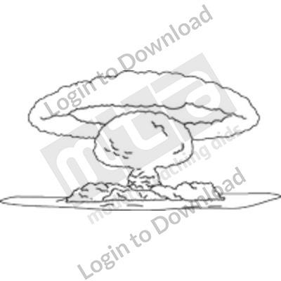 Nuclear explosion B&W