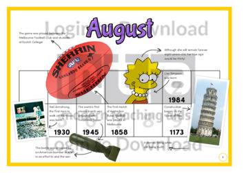 History at a Glance: August (2)