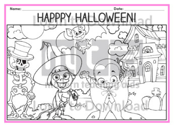 Halloween Colouring-in