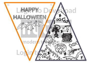 Halloween Bunting BW