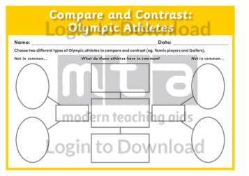 Compare and Contrast: Olympic Athletes