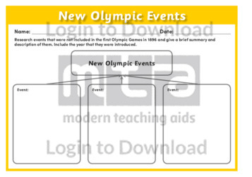 New Olympic Events