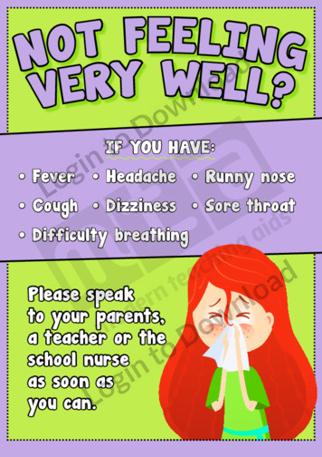 Hygiene Poster: Not Feeling Very Well?