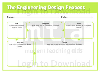 The Engineering Design Process Graphic Organiser