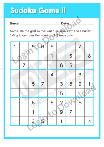 Sudoku Game 11