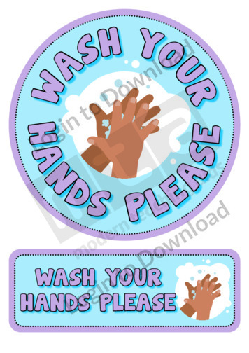 'Wash Your Hands Please' Sticker Decal