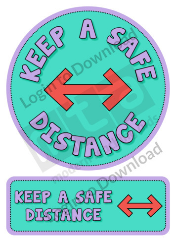 'Keep a Safe Distance' Sticker Decal
