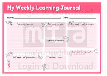 My Weekly Learning Journal