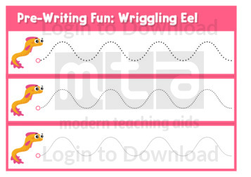 Pre-Writing Fun: Wriggling Eel