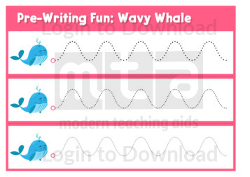Pre-Writing Fun: Wavy Whale
