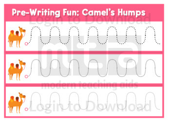 Pre-Writing Fun: Camel's Humps