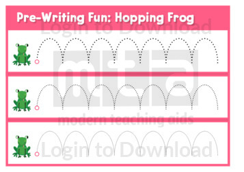 Pre-Writing Fun: Hopping Frog