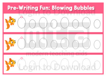 Pre-Writing Fun: Blowing Bubbles
