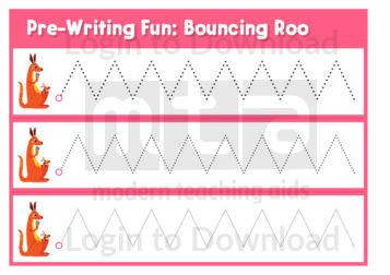 Pre-Writing Fun: Bouncing Roo
