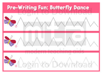 Pre-Writing Fun: Butterfly Dance