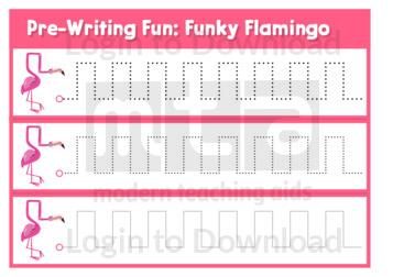 Pre-Writing Fun: Funky Flamingo