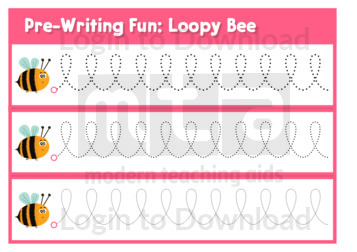 Pre-Writing Fun: Loopy Bee