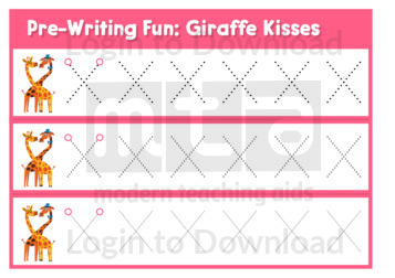 Pre-Writing Fun: Giraffe Kisses