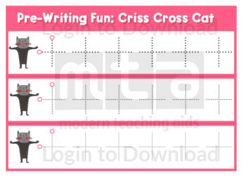 Pre-Writing Fun: Criss Cross Cat